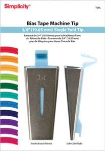 "Simplicity 881967 Bias Tape Maker Tip Makes 3/4"" Single Fold Bias Tape"