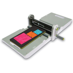 "AccuQuilt Go 55100 Quilt Fabric Cutter, 3Way Die, Cuts 6 Layersx10""W, 12"" Mat, DVD, 15Lbs"