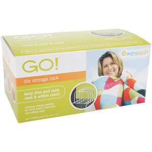 AccuQuilt Go! Die and Cutting Mat Storage Rack 55115, Avoid Scratches, Creases, Rolls, Warps, or Wobbles