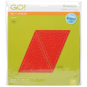 "AccuQuilt, Go!, 55016, Die, Triangle, Isosceles, 5""x6"", accu, quilt, cutting"