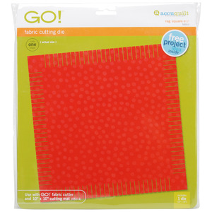 "SQUARE, Go, Fabric, Die, AccuQuilt, 55013, Die, Rag, 8, 1/2"", Inches, Cutter"
