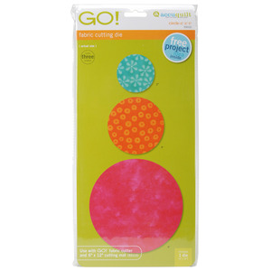 "AccuQuilt Go! 55012 Circle Dies 2"", 3"", 5"" for All Go Fabric Cutters"
