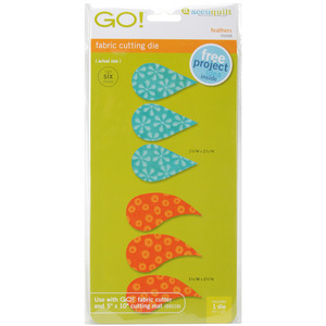 FEATHERS, Go!, Fabric, Die, AccuQuilt, 55008, Cutting, accu, quilt
