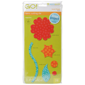 AccuQuilt, Go!, 55007, Die, Round, Flower, cutting, board, accu, quilt