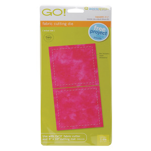 "SQUARE, Go!, Fabric, Die, AccuQuilt, 55006, Die, Square, 3-1/2"", All, Cutter"