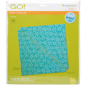 "AccuQuilt, Go!, 55001, Die, Triangle, 6 1/2"", quilt, accu, cutting"