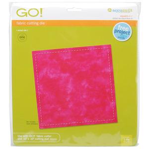 """SQUARE, Go!, Fabric, Die, AccuQuilt, 55000, 6-1/2"""", Square, Go, Cutting, Mat, 55111, 10x10"""""""