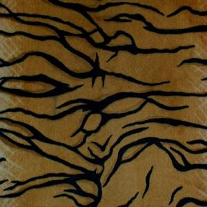 "Shannon Fabrics ctigerdrgoldblack Cuddle Dimple Tiger 100% Polyester 58"" Fabric"