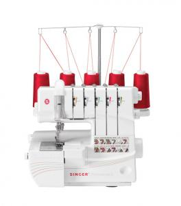 Singer 14T968DC Pro 5 Serger +7 Feet +231 Page Workbook +25Yr Warranty
