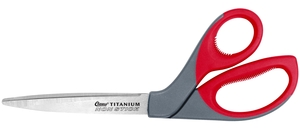 """Clauss 18545 9"""" Titanium Bonded Non-Stick bent Scissors"""