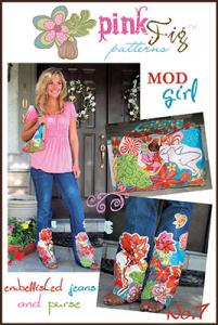 Pink Fig MOD Girl Embellished Jeans and Purses Patterns