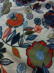 Fabric Finders 15 Yard Bolt 9.34 A Yd  CM Fabric White Background with Fall Floral 100% Cotton 60 inch