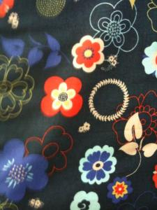 Fabric Finders 15 Yard Bolt 9.34 A Yd CM Fabric Navy with floral design 100% Cotton 60 inch