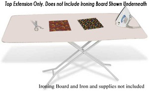 "Iron EZ GH126 Super Big Board 21x58"" Table Top Extension for Ironing Boardsnohtin"