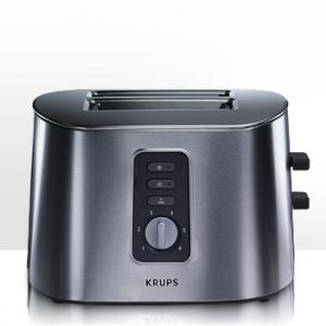 """Krups, TT6170, Stainless Stee,l 2-Slice, Toaster, 850W, 1 1/4"""" slots, High-lift toasting lever, for easy removal of small breads, 8x7x7"""" Inches, 6.6Lbs, Krups TT6170 Brushed Stainless Steel 2 Slice Toaster 8x7x7"""", 850W, Two 1.25"""" slots, High-lift lever for removal of small breads, 8 Brown Settings, 7Lb"""