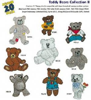 Amazing Designs 1199 Teddy Bears II Embroidery Disk