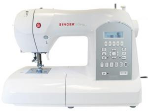Singer, 8770, Curvy, Computer, Sewing, Quilting Machine, DC motor, Auto Tension,173 LCD Stitches, 6 Buttonholes, Needle Up Down, Length & Width Adjustment, Auto Backtack