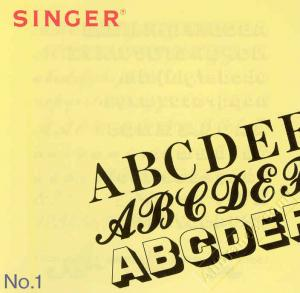 Singer No. 1 Small Alphabets Lettering Embroidery Card #386044 for XL100 Quantum Sewing Machines REDUCED $30