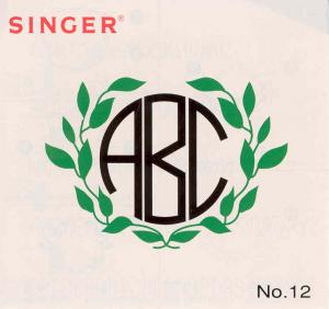 Singer No. 12 Monograms Embroidery Card #386653 for XL100, 150 & 1000 Quantum Sewing Machines REDUCED $30