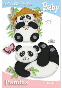 Anita Goodesign 33BAG Pandas Baby Collection Embroidery Designs on CD, 28 Designs