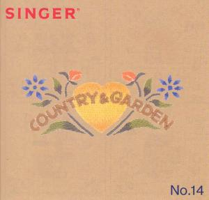 Singer No. 14 Country  & Garden Designs Embroidery Card #386796 for XL100  Quantum Sewing Machine REDUCED $30