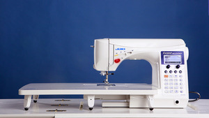 DX-2000QVP, DX2000QVP, DX7000QVP, hzlf600, fzl, f600, Juki, HZL-F600, Exceed, Series, Full, Sized, Computer, Sewing, Quilting, Machine, 255, Stitch, 4, Fonts, 16, Button, holes, Walk, Foot, Box, Feed, Threader, Trimmer, Knee, Lever, Ext, Table, 900SPM, 22Lbs