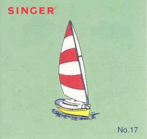 Singer No. 17 Fish/Nautical Designs Embroidery Card #386798 for XL100, 150 & 1000 Quantum Sewing Machines REDUCED $30