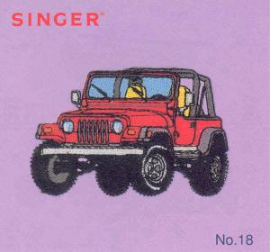 Singer No. 18 Going Places Vehicles Designs Embroidery Card #386799 for XL100, XL150, XL1000 Quantum Sewing Machines