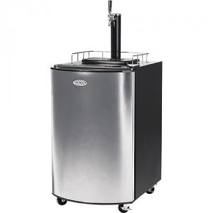 "Nostalgia Electrics KRS-2150 Commercial Outdoor Keg O Rator Stainless Steel Beer Keg Fridge & Dispenser for 15Gal 26""H, CO2 Bottle, 4 Swivel Casters"