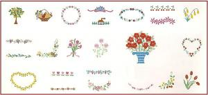 Singer No. 3 Flowers Designs Embroidery Card #386046 for XL100, 150 & 1000 Quantum Sewing Machines REDUCED $30