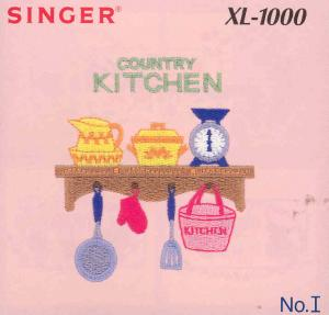 Singer XL-1000 I Country Kitchens Embroidery Card #386804