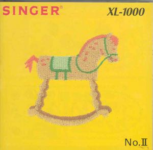 Singer Quantum XL-1000 II Young at Heart Designs Embroidery Card #386934 REDUCED $70