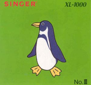 3659: Singer 386959 Quantum XL-1000 III Large Animals Designs Embroidery Card