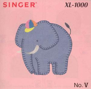 Singer Quantum XL-1000 V Applique' Designs Embroidery Card # 386961