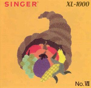 Singer Quantum XL-1000 VII Large Holiday Embroidery Card #387185 REDUCED $30