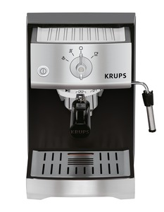 Krups, XP5220, Expert, Pump, Espresso, Coffee Maker, Precise Tamp, 15 Bar, Steam Pressure, Nozzle, for milk frothing, Stainless Steel, Thermoblock, Quick Heat