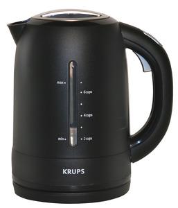 Krups FLF2J4 Kettle - Black, Cordless, 1750 watts, 54 oz, Auto off, Cool Touch Handle, Locking Lid
