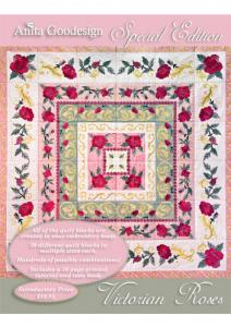 Anita Goodesign 01AGSE Victorian Roses Special Edition Multi-format Embroidery Design Pack on CD, Block Sizes: 4.8