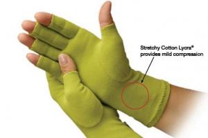 Creative Comfort 82309 Ergonomic Crafters Quilters Sewers Cotton/Lycra Support Gloves, Medium Size