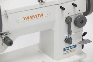 Yamata, GG20U63, FY20U63, 12mm Wide Zigzag, 6mm Straight Stitch & Reverse Industrial Sewing Machine, Assembled Power Stand 2000SPM, LCR Needle Pos.(Singer 20u43)