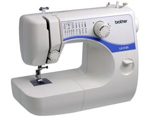 Brother LX3125FS 14/35 Stitch Freearm Mechanical Sewing Machine,  LX-3125 Lightweight 1-Dial Full Size , Bartack Buttonhole, Metal Bobbin Case, DVD
