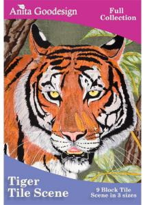 Anita, Goodesign, 140AGHD, Tiger, Tile, Scene, Multi, format, Embroidery, Design, Pack, CD