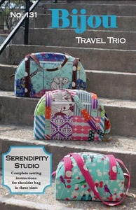 Serendipity Studio SDG131 Bijou Travel Trio Bag Sewing Pattern
