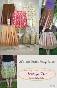 Serendipity Studio SDG103 Stella Strip Skirt Pattern