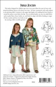 Indygo Junction IJ822 Turnabout Jacket for Children sz 1-10 Pattern
