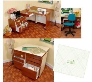 Kangaroo Studio KS-Teak Cabinet +Joey Caddy +Dingo Cutting Table +Mat +Chair
