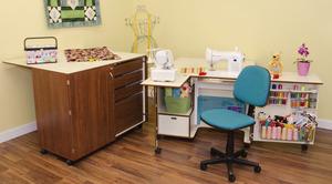 Kangaroo WS-TEAK Cabinets Wallaby Air Lift, Dingo Cutting Table, Mat, Chair, Insert, combo, set
