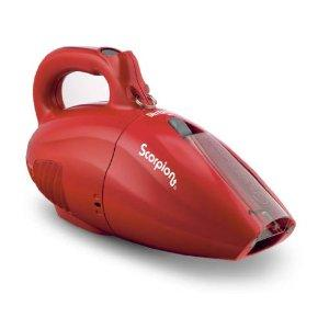 Dirt Devil SD20005RED Scorpion Quick Flip Bagless Hand Vacuum - 7 amps, Red, 16' Cord, Crevice Tool, Dusting Brush, Hose, Shoulder Strap, Extension