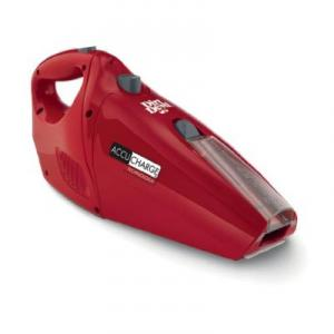 Dirt Devil BD10045RED AccuCharge HandHeld Vacuum Cleaner, 15.6V, Energy Star, Retractable Brush, Cordless, Bagless, Dirt Cup, Wall Mount, Crevice Tool