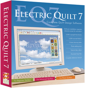 ELECTRIC, QUILT, 7, EQ7, Window, Complete, Design, Software, Block, Photo